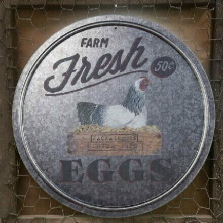 Galvanized Farm Fresh Eggs Sign