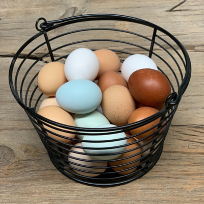 Coated Metal 3-Dozen Egg Basket