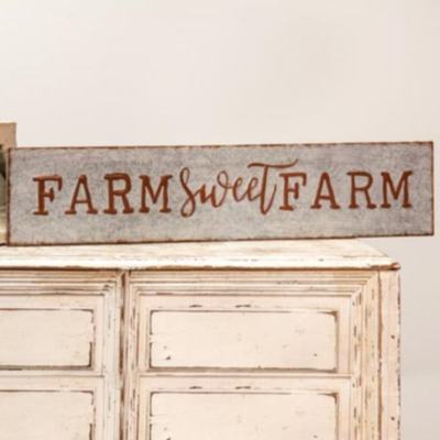 Galvanized Farm Sweet Farm Sign