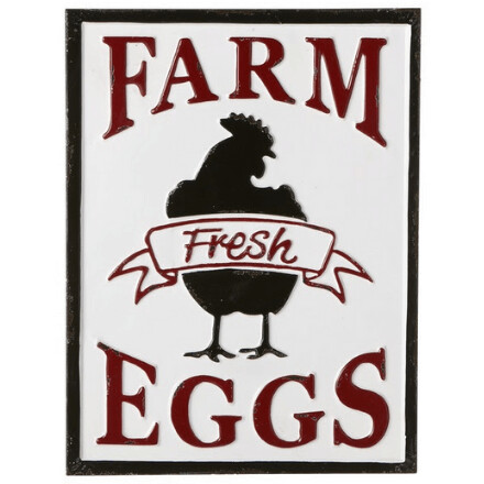 Enamel Farm Fresh Eggs Sign