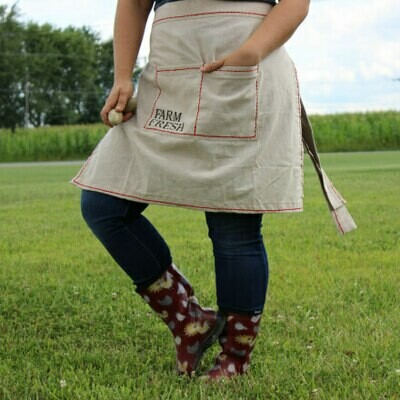 Farm Fresh Cotton Half Apron