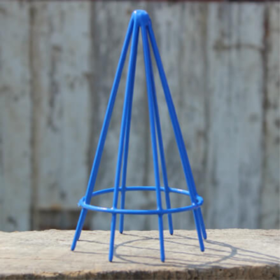 Plastic Coated Egg Basket Cone