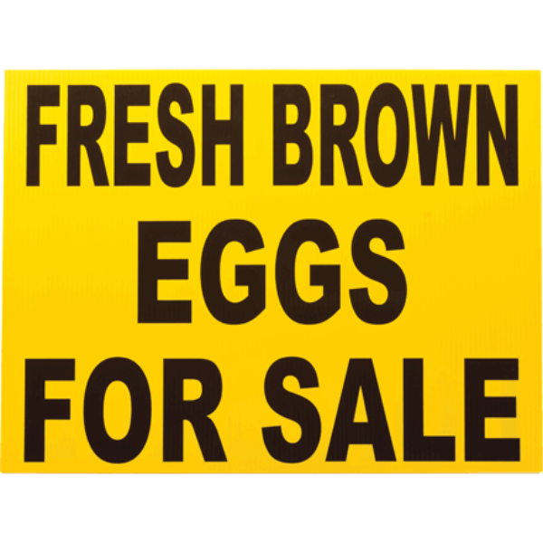 Fresh Brown Eggs for Sale Sign