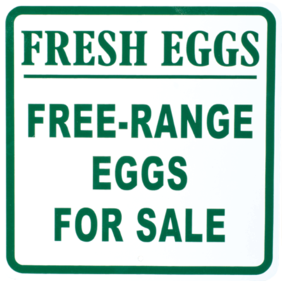 Fresh Eggs | Free-Range Eggs for Sale Sign