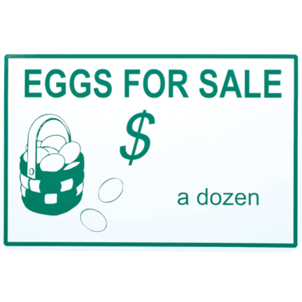 Eggs for Sale Metal Sign
