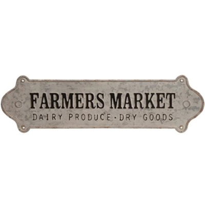 Farmhouse Farmers Market Galvanized Sign