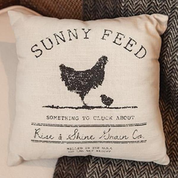 Sunny Feed Farmhouse Pillow