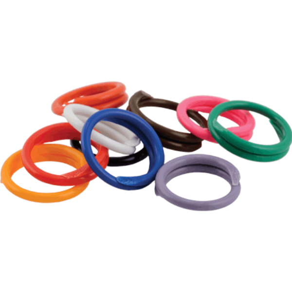 "Size 4, 1/4"" Spiral Leg Band, 25 pack"