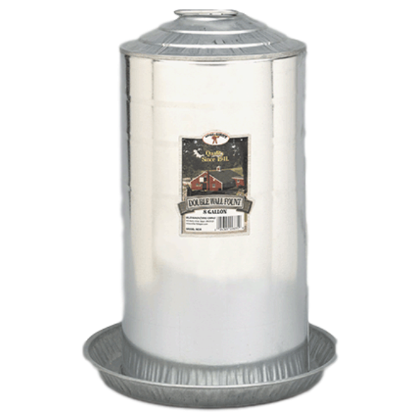 Galvanized 8 Gallon Waterer