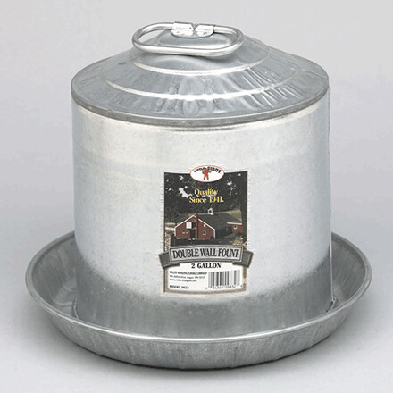 Galvanized 2 Gallon Waterer