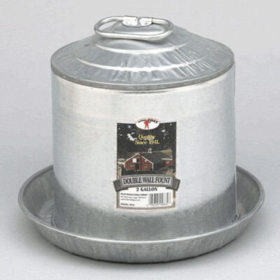 Galvanized 2 Gallon Waterer