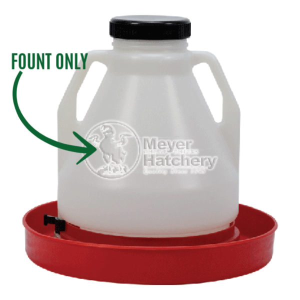 4 and 7 Gallon Top Fill Poultry Fount Replacement Parts
