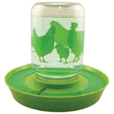 Reversible Chicken Feeder and Water Fount, 1 Gallon