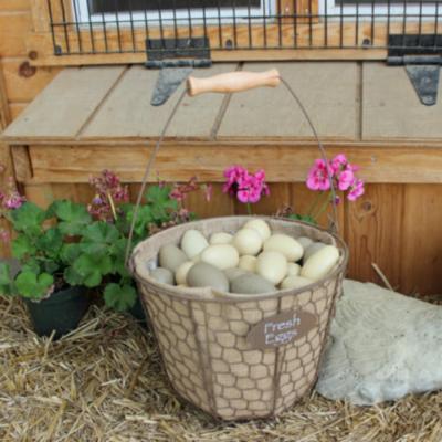 Rustic Chicken Wire Egg Basket