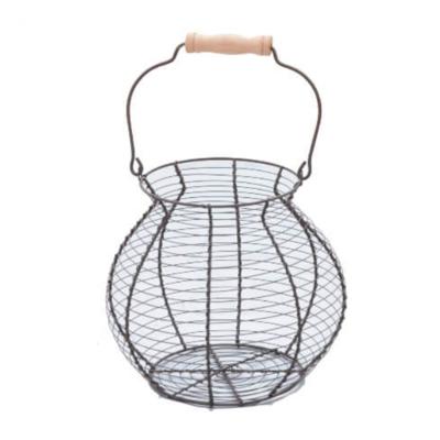 Vintage Metal Egg Basket