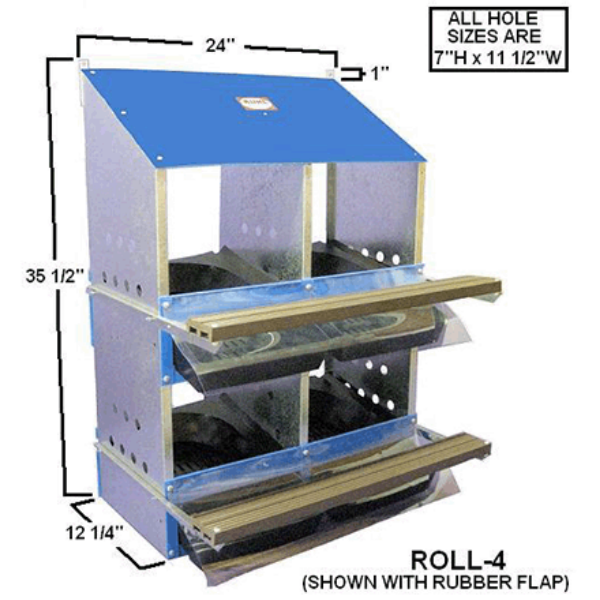 Front Roll Out 4, 6, 8, or 10-Hole Nest Box