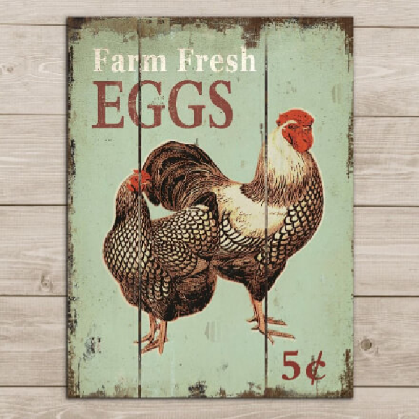 Farm Fresh Eggs Pallet Sign
