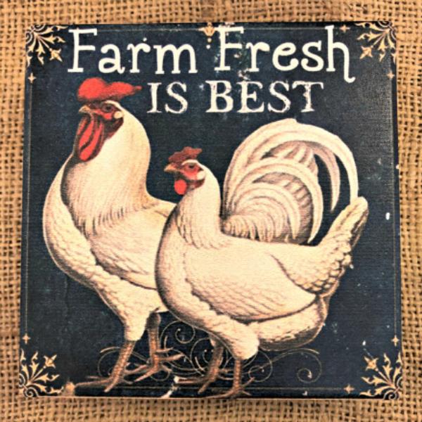 Farm Fresh is Best Coaster Set
