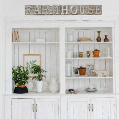 Vintage Wooden and Galvanized Farmhouse Sign
