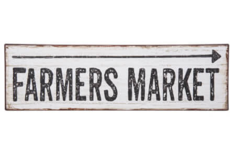 Farmers Market Distressed Arrow Sign