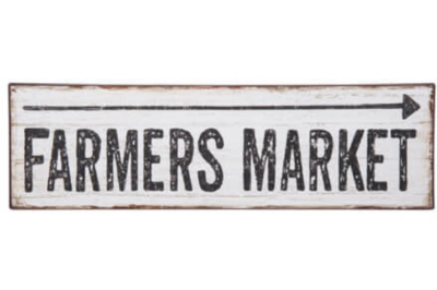 Farmers Market Distressed Arrow Sign