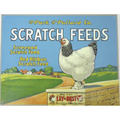 Scratch Grain Feeds Sign