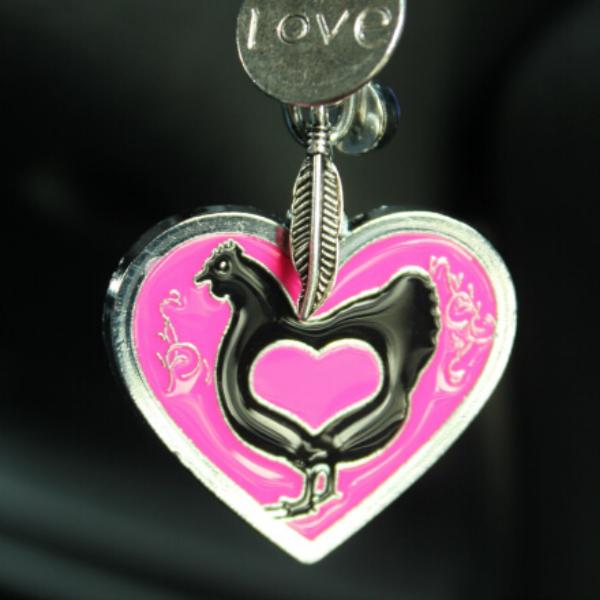 Chicken Charm Keychain