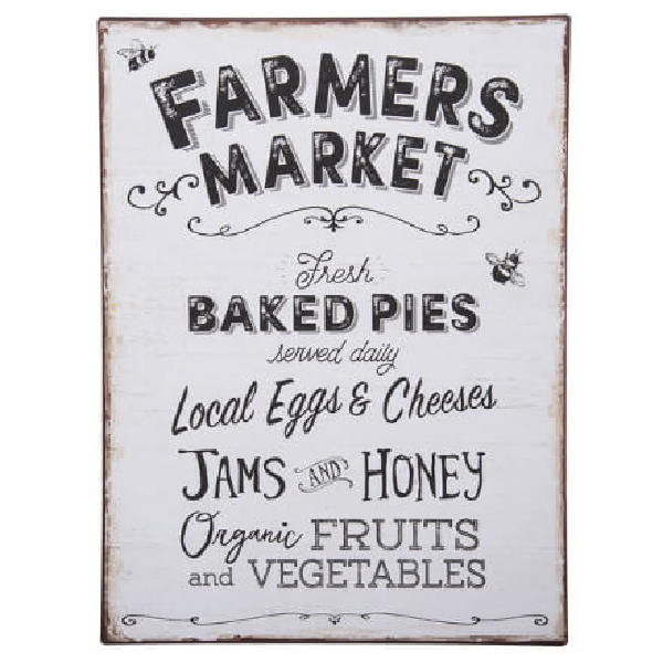 Farmer's Market Fresh Goods Sign