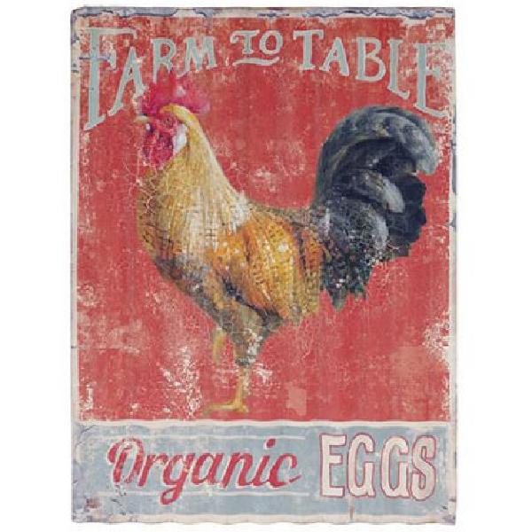 Farm to Table Organic Eggs Sign