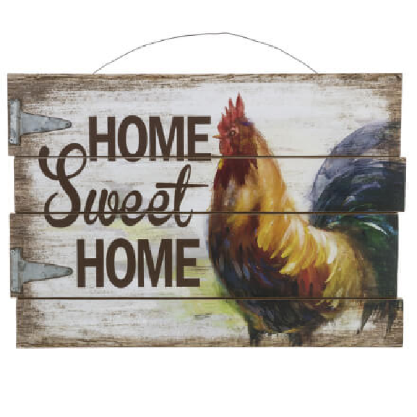 Home Sweet Home Rooster Wall Plaque