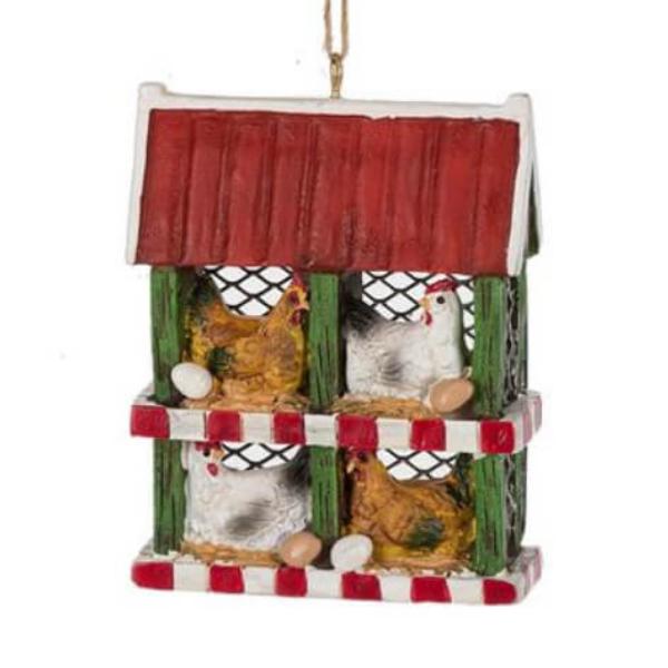 Chicken Coop Ornament