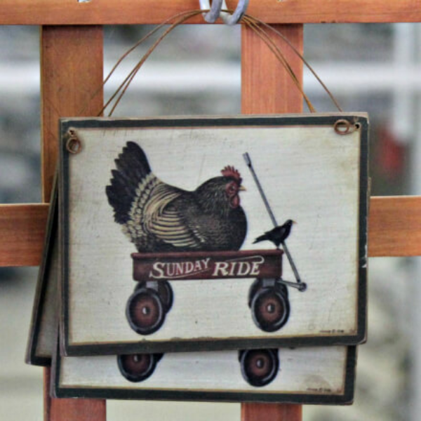 Sunday Ride Hen Ornament