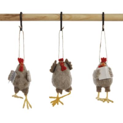 Wool Felt Chicken Ornament
