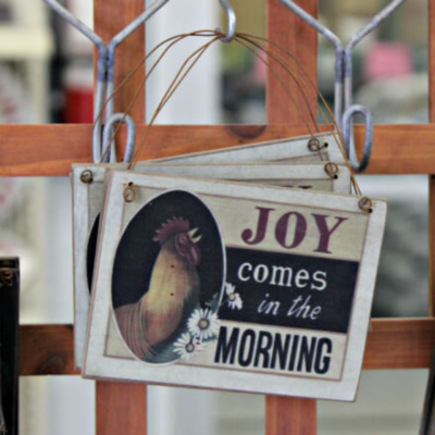 Joy Comes in the Morning Ornament