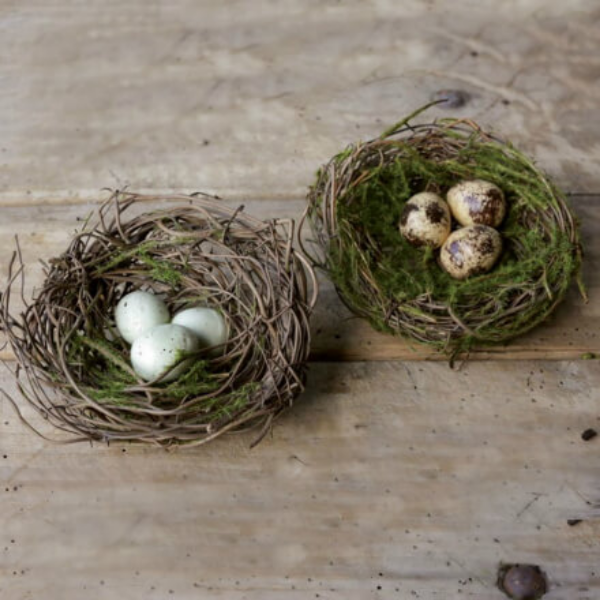 Moss Nest with Eggs Ornament