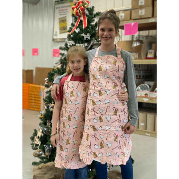 Fluffy Layers Mommy and Me Holiday Apron Set