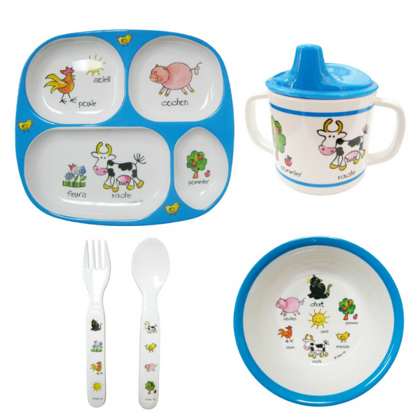 Farm Animal Kids Dishes