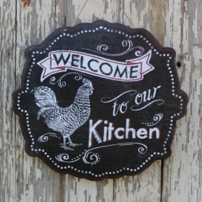 Welcome to Our Kitchen Sign