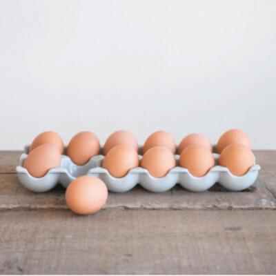 Grey Stoneware Egg Tray