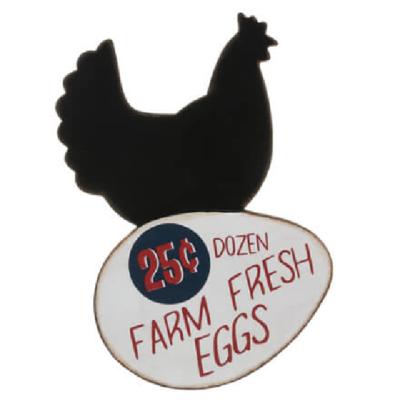 Hen Farm Fresh Eggs Cutout