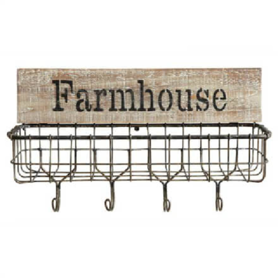 Farmhouse Wire Key Holder