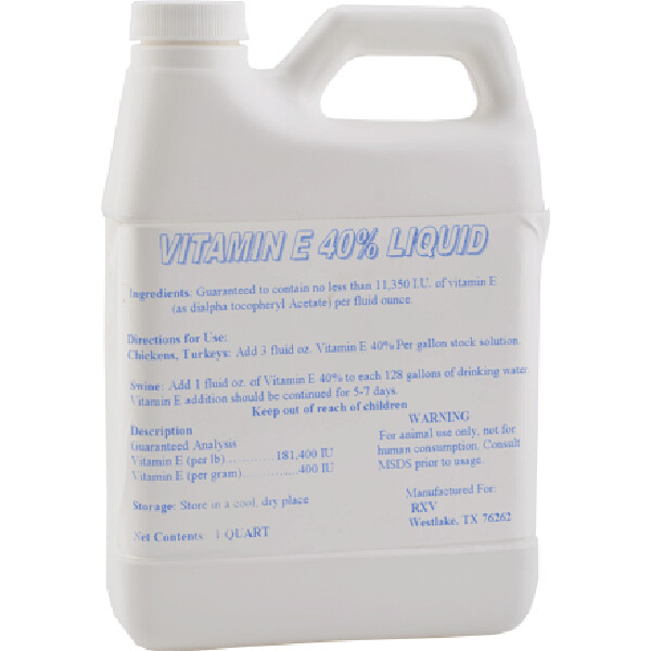 Vitamin E 40 Liquid, 1-quart