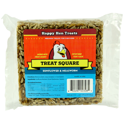Happy Hen Treats Mealworm and Sunflower Blend Treat Square