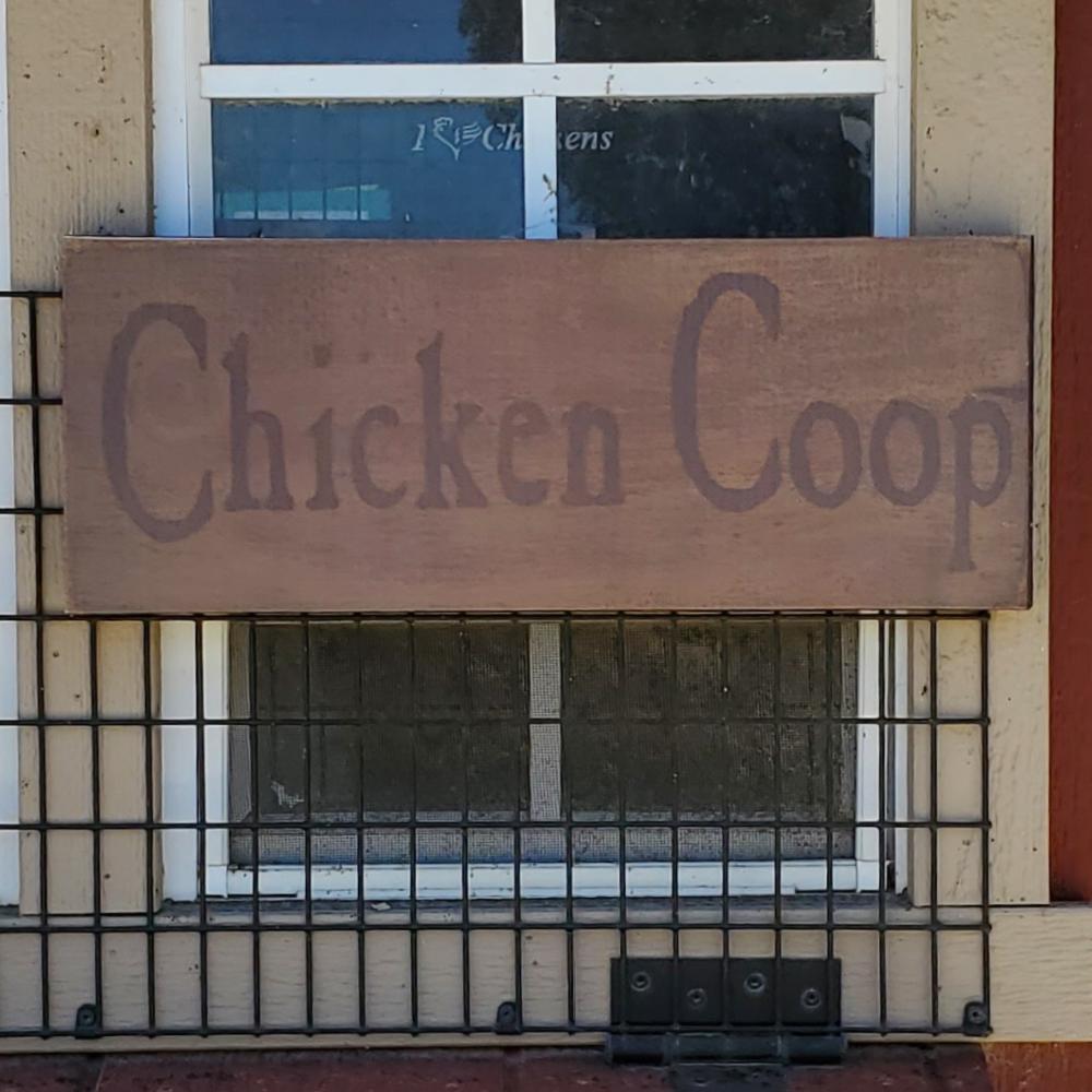 """""""Chicken Coop"""" Canvas Sign"""