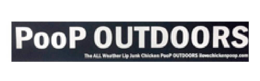 """Poop Outdoors"" Bumper Sticker"