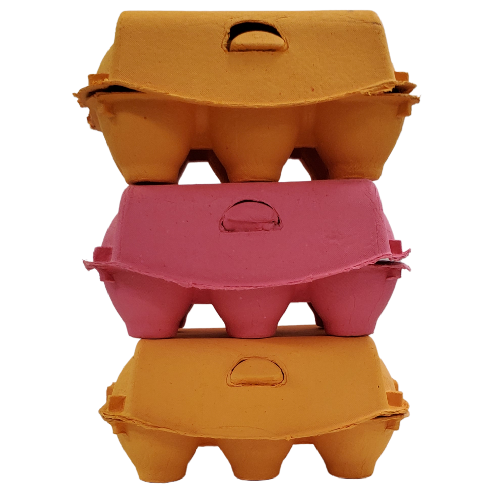 Pulp 6-Egg Carton, Assorted Colors