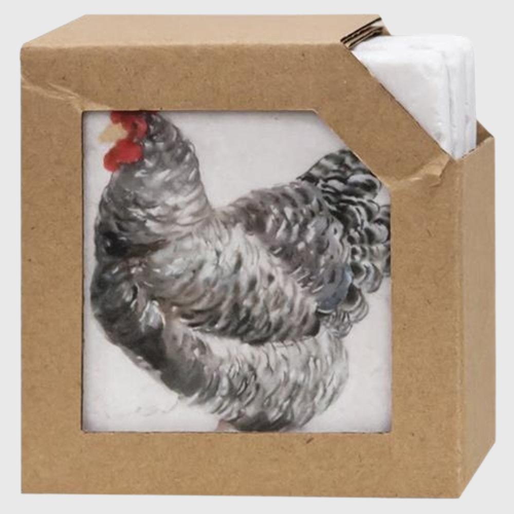 Chicken Coasters, 4 Piece Set