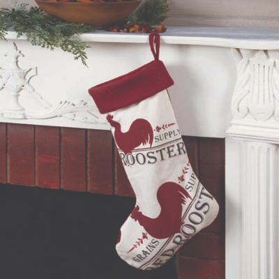Red Rooster Stocking