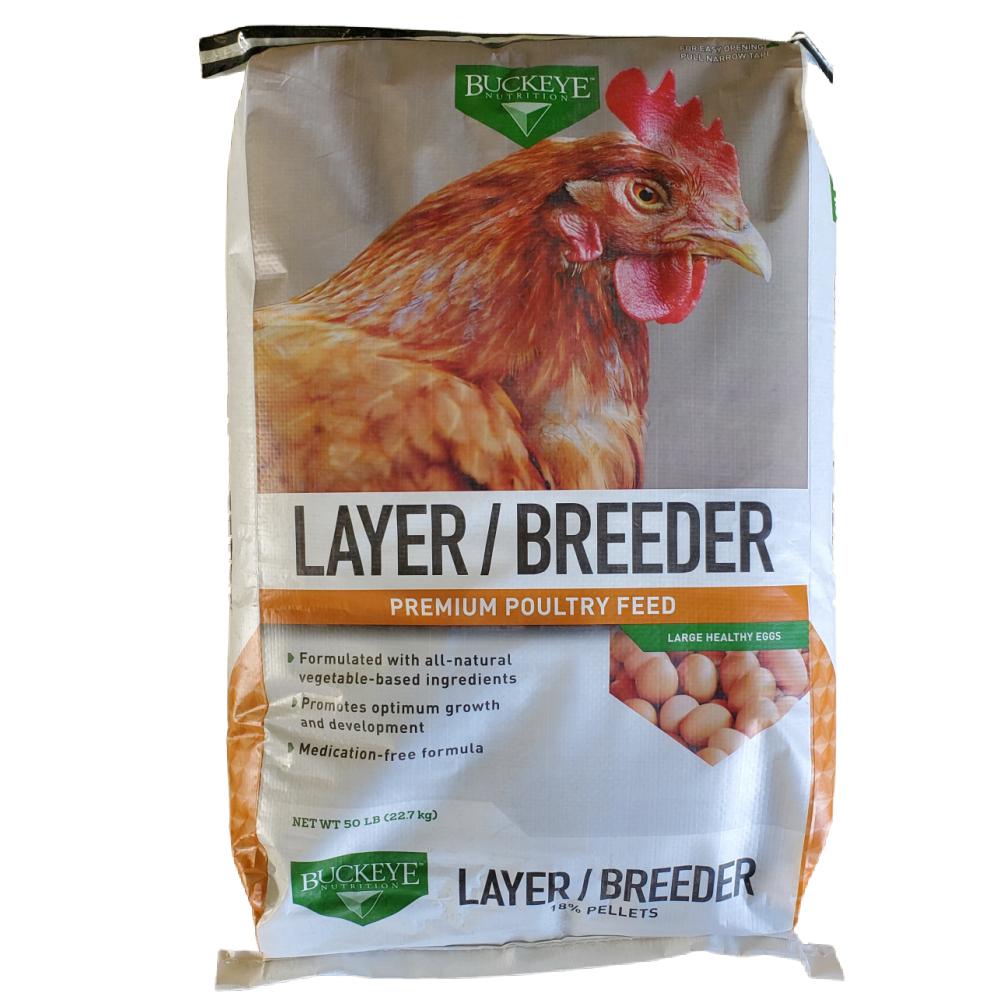 Buckeye Layer/Breeder Premium Poultry Feed