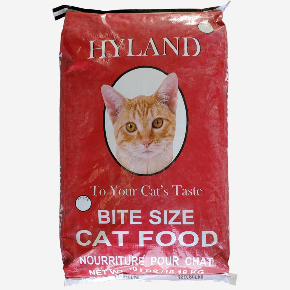 Hyland Cat Food 32.5%, 40 lb Bag